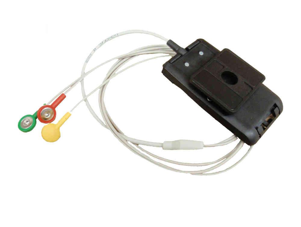 3-adriges LZ-EKG-Kabel zu Reynolds LiveCard CF mit Gürtelclip ...